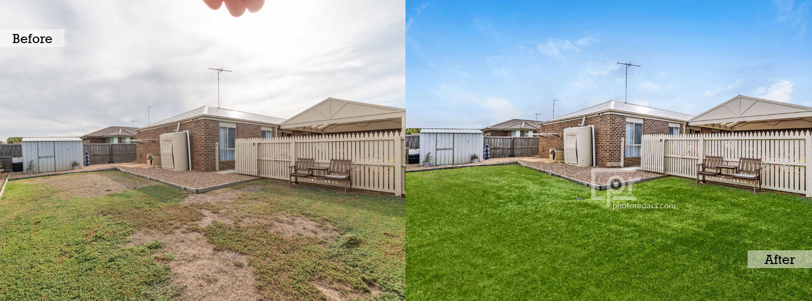 Real Estate Photo Sky Change Service